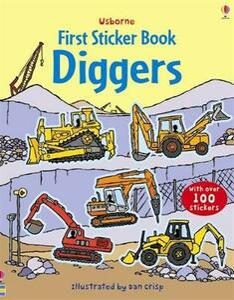 Diggers Sticker Book - Dan Crisp - cover