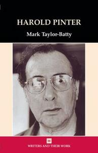 Harold Pinter - Mark Batty - cover