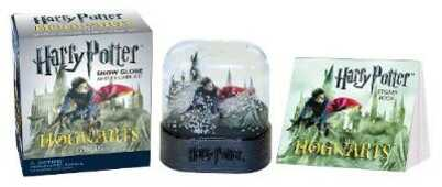 Libro in inglese Harry Potter Hogwarts Castle Snow Globe and Sticker Kit