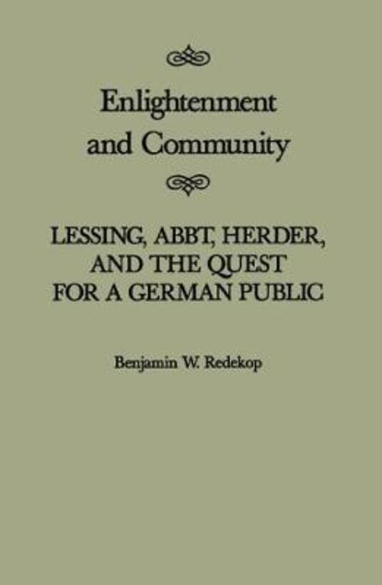 Enlightenment and Community - Benjamin W. Redekop - cover