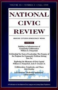 No. 3, Fall 1999: Ten Years of Community Problem Solving - NCR (National Civic Review) - cover