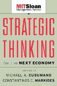 Strategic Thinking for the Next Economy - cover