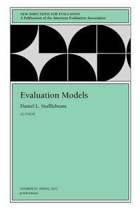 Evaluation Models: New Directions for Evaluation, Number 89 - cover