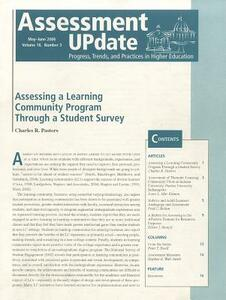 Assessment Update Volume 18, Number 3 May-june 2006 - cover