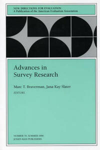 Advances in Survey Research: New Directions for Evaluation, Number 70 - cover