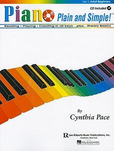 Piano Plain and Simple - Cynthia Pace - cover