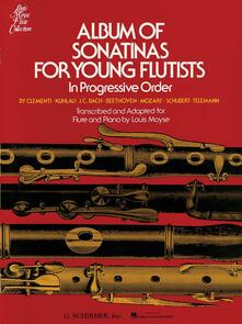 Album of Sonatinas for Young Flutists. Flauto e pianoforte. Louis Moyse - copertina