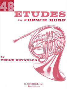 48 Etudes for French Horn. Corno francese -  Verne Reynolds - copertina