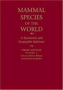 Mammal Species of the World: A Taxonomic and Geographic Reference - cover