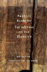 The Writing of the Disaster - Maurice Blanchot - cover