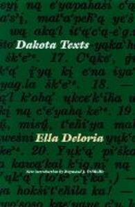 Dakota Texts - Ella Cara Deloria - cover