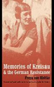 Memories of Kreisau and the German Resistance - Freya von Moltke - cover