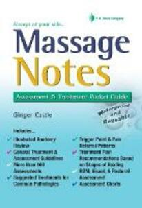 Massage Notes 1e - Ginger Castle - cover