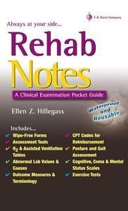 Rehab Notes: Evaluation and Intervention Pocket Guide - Ellen Z. Hillegass - cover
