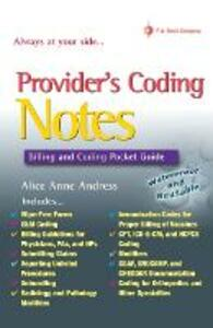 Providers' Coding Notes: Billing and Coding Pocket Guide - Alice Anne Andress - cover