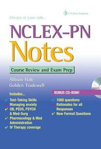 NCLEX-PN Notes: Course Review and Exam Prep - Allison Hale,Golden M. Tradewell - cover