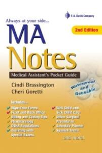 MA Notes: Medical Assistant's Pocket Guide - Cindi Brassington,Cheri Goretti - cover