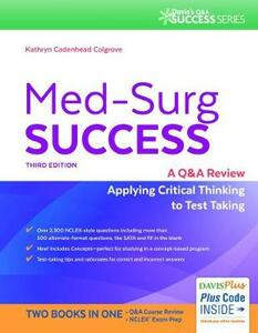 Med-Surg Success 3e - Kathryn Cadenhead Colgrove - cover