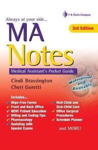 Ma Notes:Medical Assistants Pkt Gde 3e - Cindi Brassington,Cheri Goretti - cover
