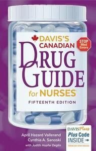 Davis's Drug Guide for Nurses Canadian Version - April Hazard Vallerand,Cynthia A Sanoski - cover