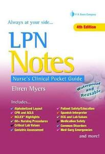 Lpn Notes, 4e - Ehren Myers - cover