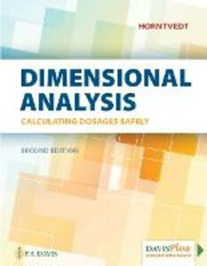 Dimensional Analysis: Calculating Dosages Safely - Tracy Horntvedt - cover