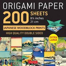 """Origami Paper 200 sheets Japanese Woodblock Prints 8 1/4"""": Extra Large Tuttle Origami Paper: High-Quality Double Sided Origami Sheets Printed with 12 Different Prints (Instructions for 6 Projects Included) - cover"""
