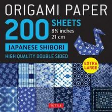 """Origami Paper 200 sheets Japanese Shibori 8 1/4"""" (21 cm): Extra Large Tuttle Origami Paper: High Quality, Double-Sided Sheets (12 Designs & Instructions for 6 Projects Included) - cover"""