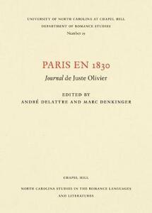 Paris en 1830: Journal de Juste Olivier - cover