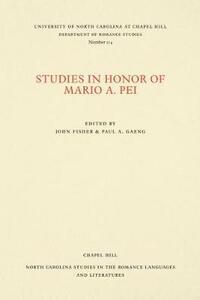 Studies in Honor of Mario A. Pei - cover