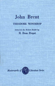John Brent - Theodore Winthrop - cover