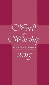 Word and Worship Pocket Calendar 2015 - cover