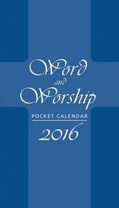 Word and Worship Pocket Calendar 2016 - cover