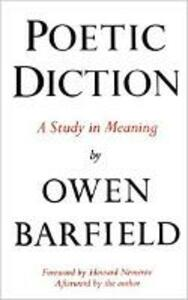 Poetic Diction - Owen Barfield - cover