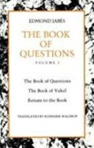 The Book of Questions - Edmond Jabes - cover