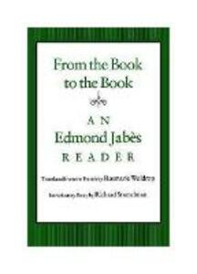 From the Book to the Book - Edmond Jabes - cover