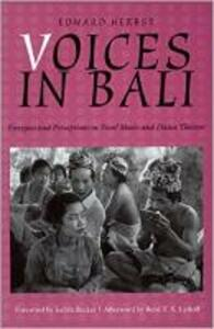 Voices in Bali - Edward P. Herbst - cover