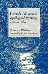 Lavish Absence - Rosmarie Waldrop - cover