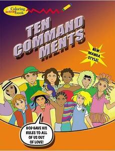 Ten Commandment Color Bk (5pk) - D Halpin - cover