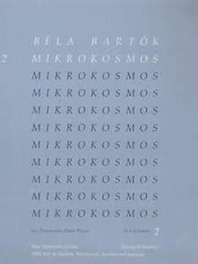 Béla Bartók. Mikrokosmos 2. pianoforte. blue - copertina