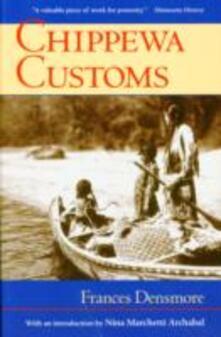 Chippewa Customs - Frances Densmore - cover
