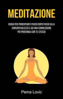 Meditazione: Guida Per Principianti Passo Dopo Passo Alla Consapevolezza E Ad Una Connessione - Pema Lovic - ebook