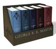 Libro in inglese George R. R. Martin's a Game of Thrones Leather-Cloth Boxed Set (Song of Ice and Fire Series): A Game of Thrones, a Clash of Kings, a Storm of Swords, a Feast for Crows, and a Dance with Dragons George R R Martin