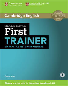 First Trainer Six Practice Tests with Answers with Audio - cover