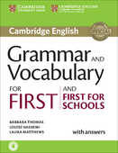 Libro in inglese Grammar and Vocabulary for First and First for Schools Book with Answers and Audio Barbara Thomas Louise Hashemi Laura Matthews
