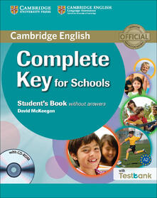 Complete Key for Schools Student's Book without Answers with CD-ROM with Testbank - David McKeegan - cover