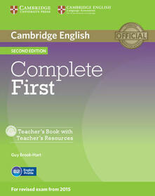 Complete First Teacher's Book with Teacher's Resources CD-ROM - Guy Brook-Hart - cover