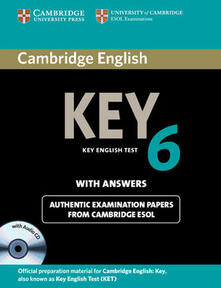 Cambridge English Key 6 Self-study Pack (Student's Book with Answers and Audio CD) - Cambridge ESOL - cover