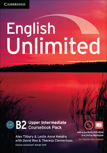 English Unlimited / Upper-intermediate (intern.version). Coursebook with e-Portfolio and Online Workbook Pack - copertina