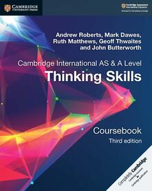 Thinking Skills Coursebook - Mark Dawes,Ruth Matthews,Andrew Roberts - cover